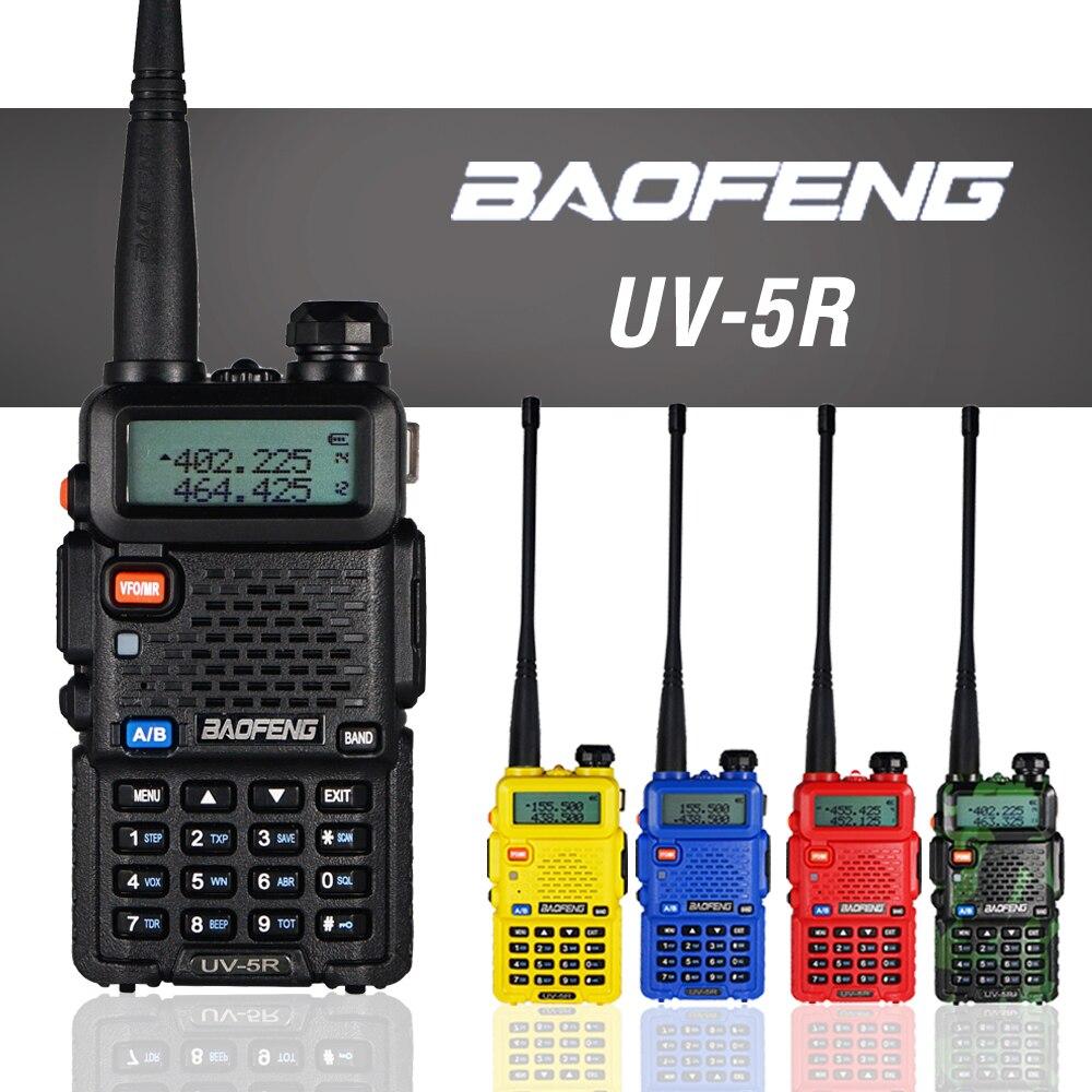 Baofeng UV-5R Walkie Talkie 5W Dual Band VHF UHF Transceiver UV 5R Professional Hunting CB Ham Radio Station 128CH Two Way Radio
