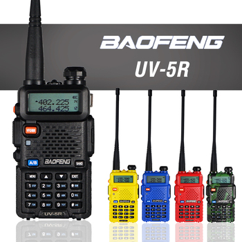 Baofeng UV-5R Walkie Talkie 5W Dual Band VHF UHF Transceiver UV 5R Professional Hunting CB Ham Radio Station 128CH Two Way - discount item  40% OFF Walkie Talkie