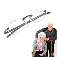 Glasses Men for Women Drop-Ship Lense Presbyopic Rimless Reading Metal Resin Aluminum