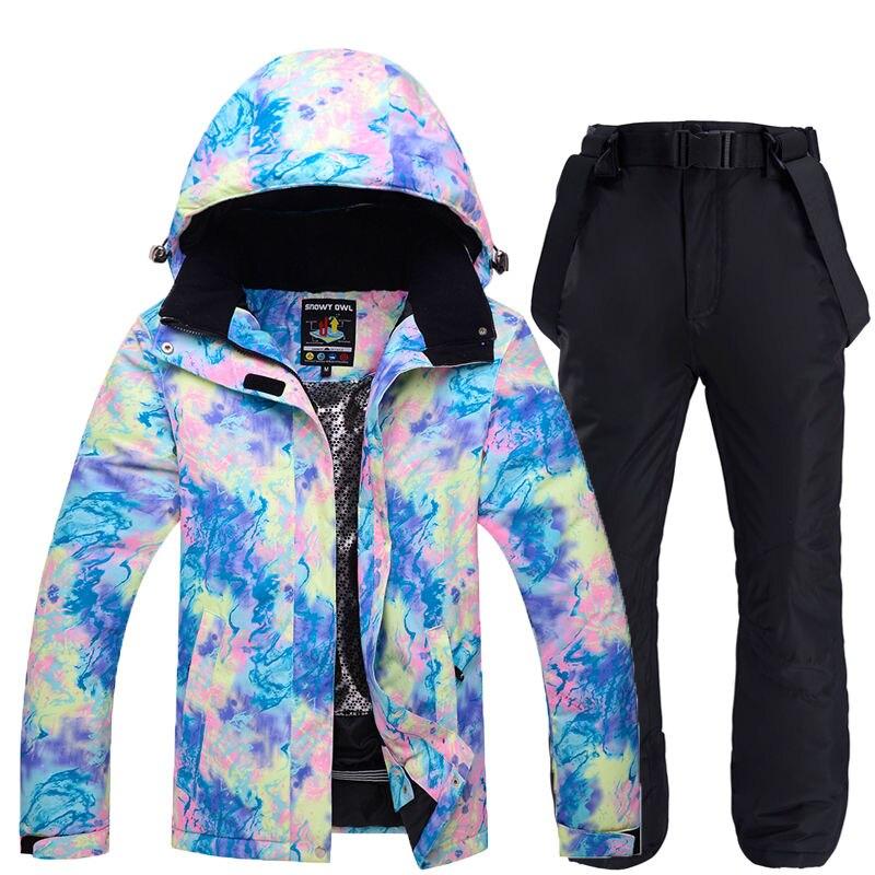 Mode femmes combinaison de Ski ensembles snowboard vêtements vêtements de fille Sports de plein air imperméable coupe-vent vestes de neige + pantalons femmes ensembles
