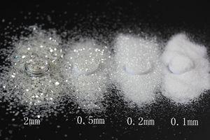 Image 2 - 白雪姫のうちスクラップブッキングクラフト装飾うちホワイトシルバーミックスネイルグリッターパウダースパンコールパウダーミックス Paillett
