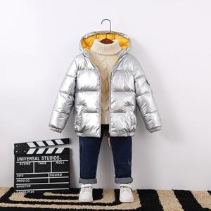 Image 2 - Abrigo de otoño invierno para bebé, chaqueta de plumón de pato, ropa de exterior, ropa impermeable para niña, ropa de escalada para niño, traje de nieve 2020