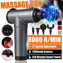 8000r/min terapia massagem arma 4/22 engrenagens massageador muscular dor esporte massagem máquina relaxar corpo emagrecimento alívio com 4 cabeças