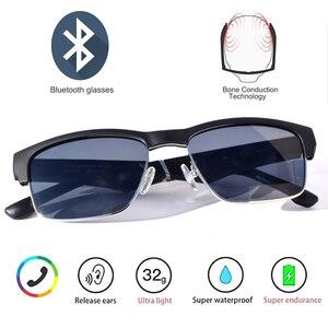 Image 2 - Wysokiej klasy inteligentne okulary wodoodporny bezprzewodowy zestaw głośnomówiący Bluetooth wywołanie muzyki Audio otwarte okulary przeciwsłoneczne