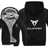 New Cupra Hoodies Jacket Winter Thicken Men women Unisex Casual Wool Fleece car logo Hoody Coat Sweatshirts Pullover clothes