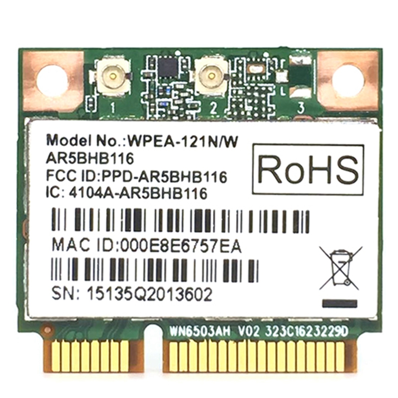 Wireless Network Card Atheros AR9832 AR5BHB116 2.4/5 GHz Single-Chip 300 Mbps 802.11N MINI PCI-E Wireless Card WIFI