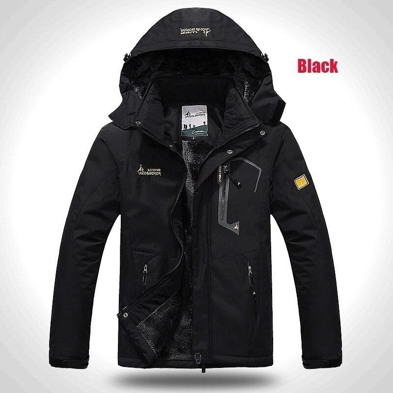 Image 3 - 2019 Winter Jacket Men Thick Velvet Warm Coat Male Windproof  Hooded Jackets Outwear Casual Mountaineering Overcoat 6XL Plus  SizeParkas