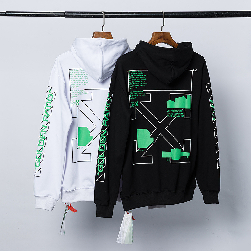 The Last Of Us Part 2 green printed arrows (black white) european version top Streetwear men women off white Hoodie Sweatshirt