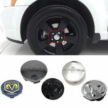 54/60/63mm 4 pçs centro da roda hub capa emblema para dodge challenger ram 1500 durango viagem calibre jcuv caravan acessórios do carro