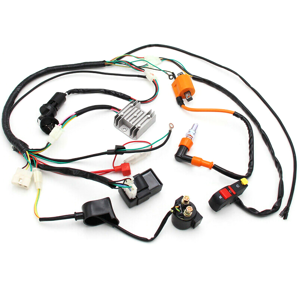 Motor ATV QUAD 150 200 250cc Stator CDI Coil Electric Wiring Harness Wire Loom