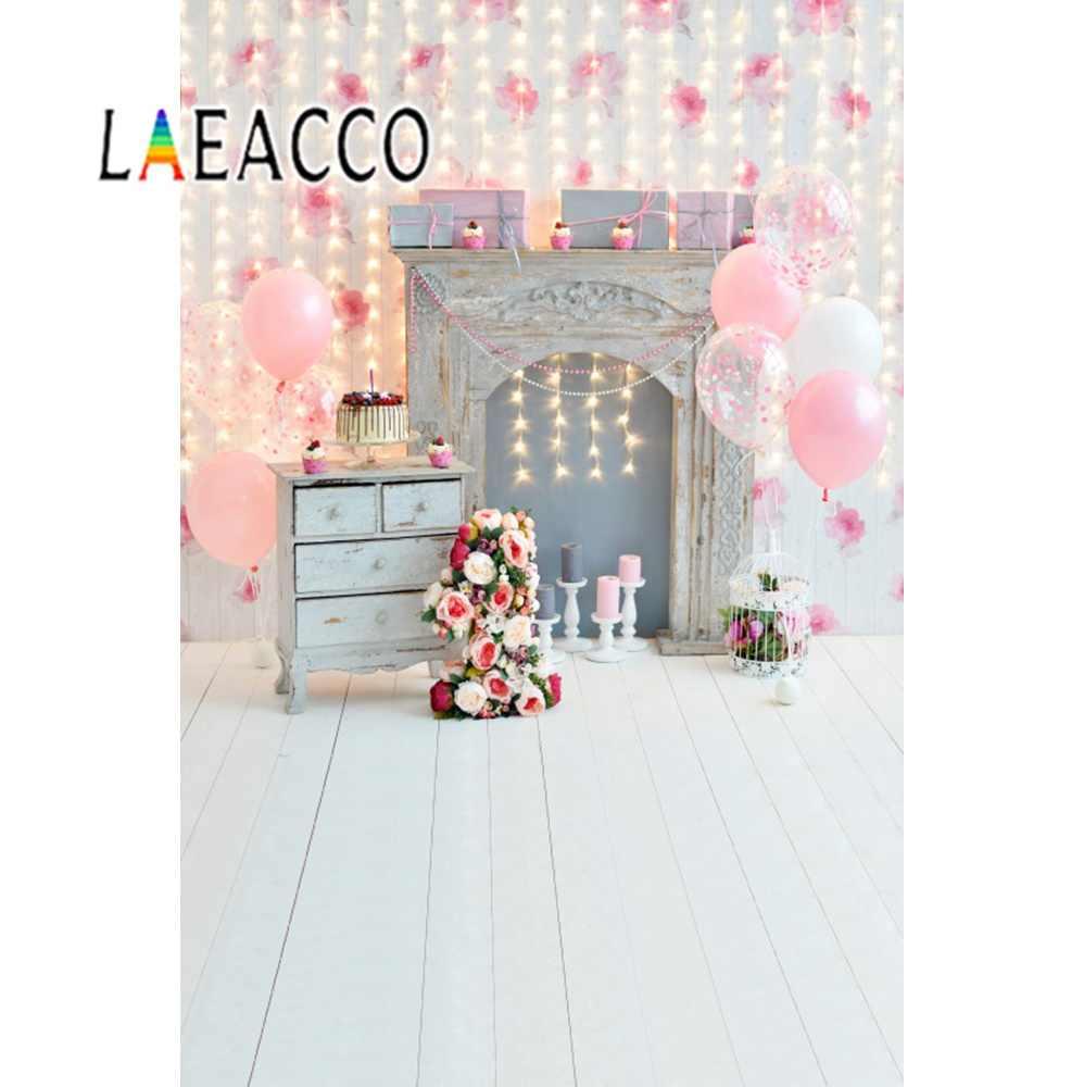Chevrons rayas feliz bebé 1 er cumpleaños fiesta globos pastel retrato Foto fondo fotográfico para estudio fotográfico