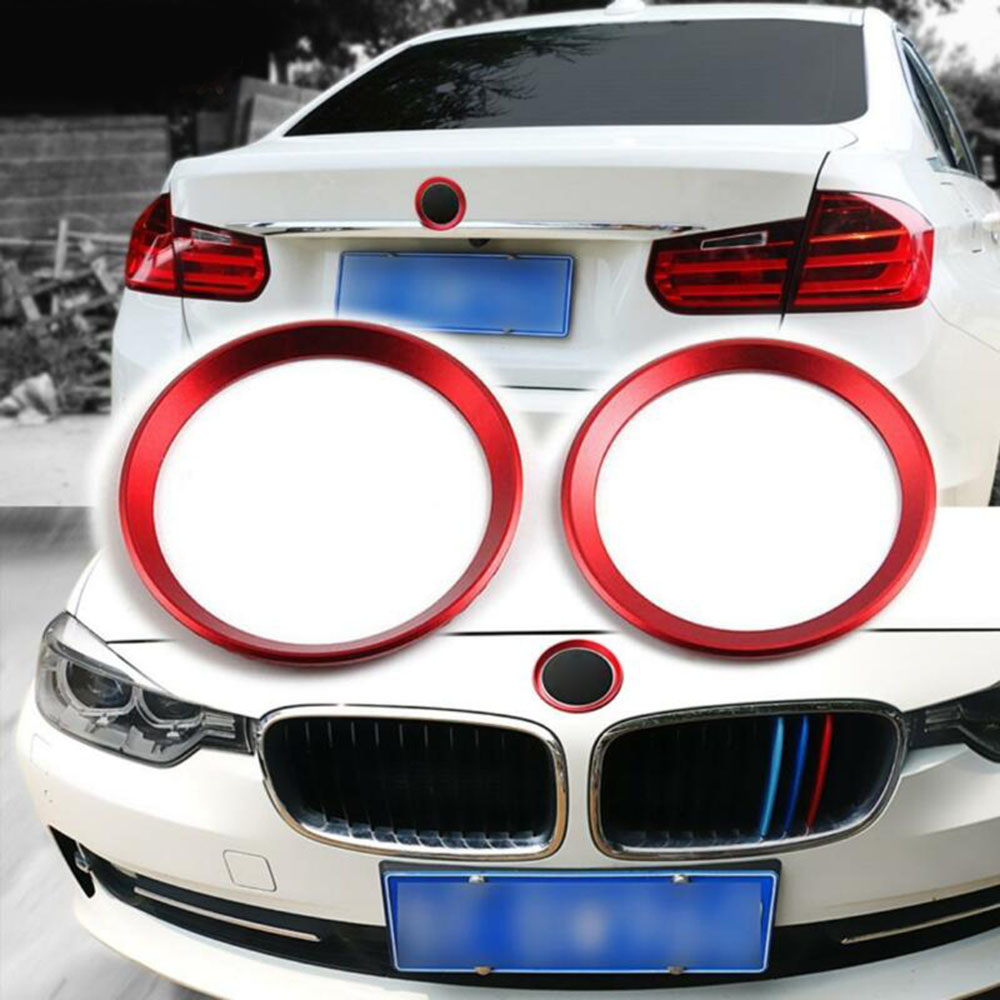 Covers Logo Surrounding Ring Trims For BMW F30 E90 3 4 Series 82 Mm & 74 Mm image