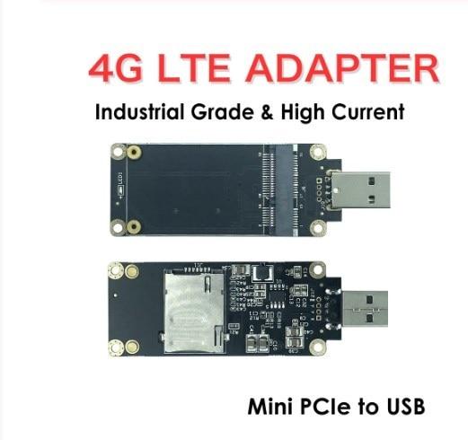 Industrial-Grade Mini PCI-E to USB Adapter with SIM Card Slot for WWAN//LTE Module