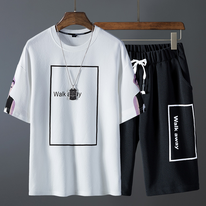 Nice Men Summer Short Sleeve T-shirts And Tops Shirts Hip Pop Tops Suit Men Sports Suit T Shirt Men Tracksuits