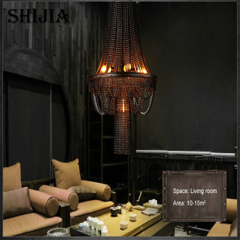 Retro Personality Creative Bicycle Chain Pendant light for Bar Restaurant Cafe Decoration Lighting - 5
