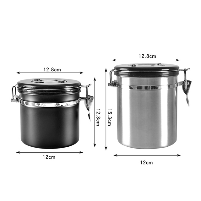 Metal Coffee Storage Coffee Container Storage Canister Bottle Stainless Steel  Coffee Storage Jar Nut Sugar Tea Container 6