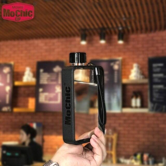 Tasse deau plate personnalisée Portable papier bouteille deau tasse coréen créatif en plastique bouteille deau