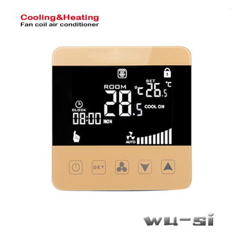 Programmable 2P 4P thermostat  with cooling,heating,ventilation floor heating combined with ventilation
