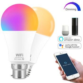 цена на Dimmable 15W E27 WiFi Smart Light Bulb Lamp Warm white,/ white / RGB LED Bulb App Operate Alexa Google Assistant Voice Control
