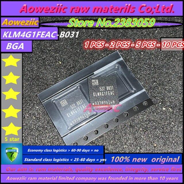 Aoweziic 100% neue original KLM4G1FEAC B031 BGA Speicher 4G EMMC KLM4G1FEAC B031