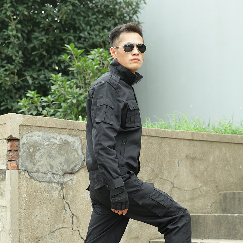 Camouflage Genuine Product Uniform China 99 Black Police Training Clothes Wear-Resistant Outdoor Men Special Forces Work Clothes
