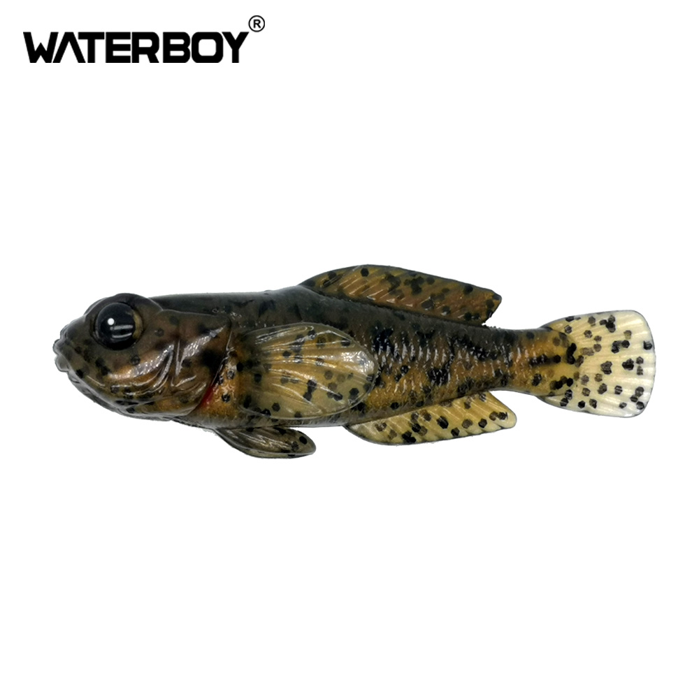 1PCS 75mm 9.3g Goby Soft Lure Swimbait 0.33oz 3inch Fish Baits Finest Detailed Top Quality Softbait Soft Fishing Bait