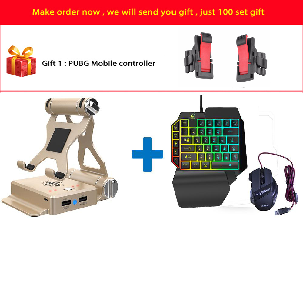 GameSir X1 BattleDock Wired/Wireless Converter Stand Adapter Wired Gaming Keyboard Mouse For PUBG Fortnite FPS Gamee