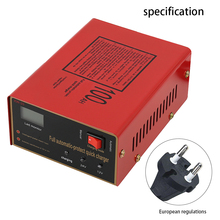 Car Battery Charger Automatic Intelligent Pulse Repair 12V/24V 10A 6-105AH With Adapter EU Plug new free shipping genset automatic battery charger 10a 12v 24v manual changable from factory