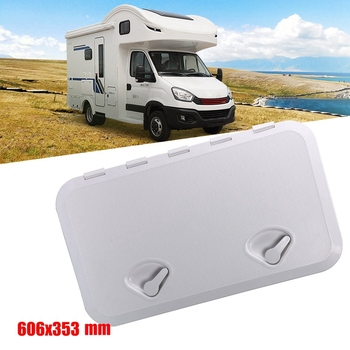 606X353mm RV Hatch Plate Durable Inspection Deck Cover for Marine Boat Caravan Deck Compartment Access Yacht Cover