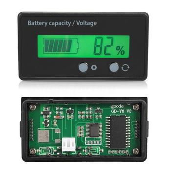 12V Digital LCD Battery Car Lead-Acid Capacity Tester Voltmeter Dual Display image