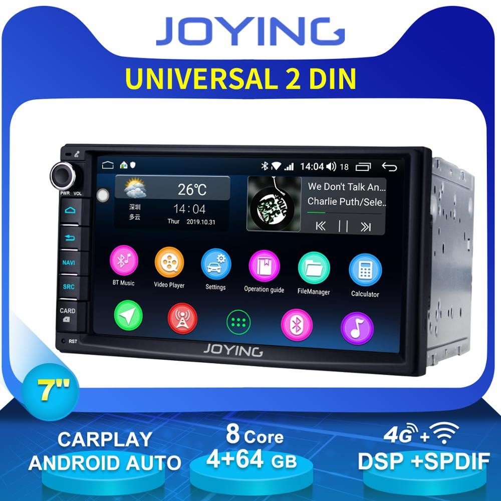 "Auto Products Double 2Din 7""Universal Head Unit Android Car Radio Stereo Octa Core 4GB+64GB Music Player 4G Module DSP Carplay(China)"