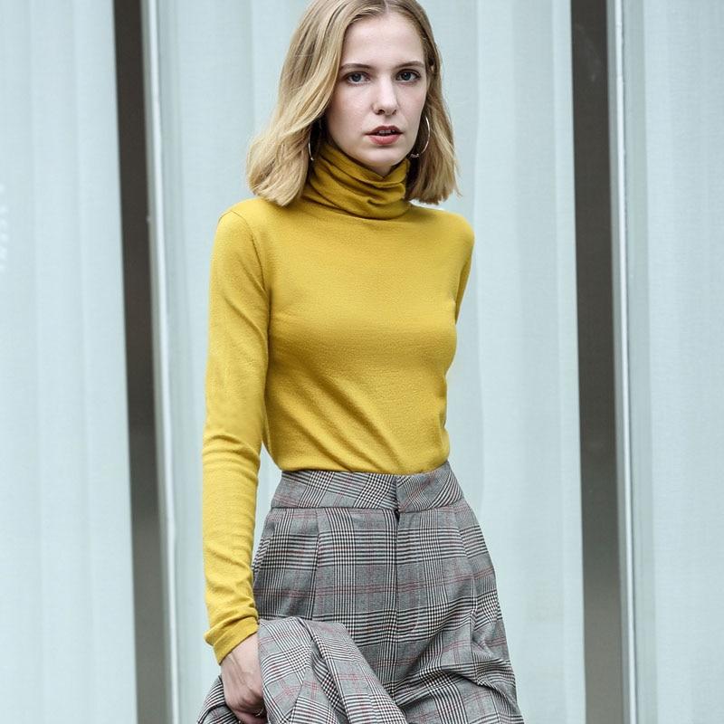 Spring Turtleneck Solid Sweater