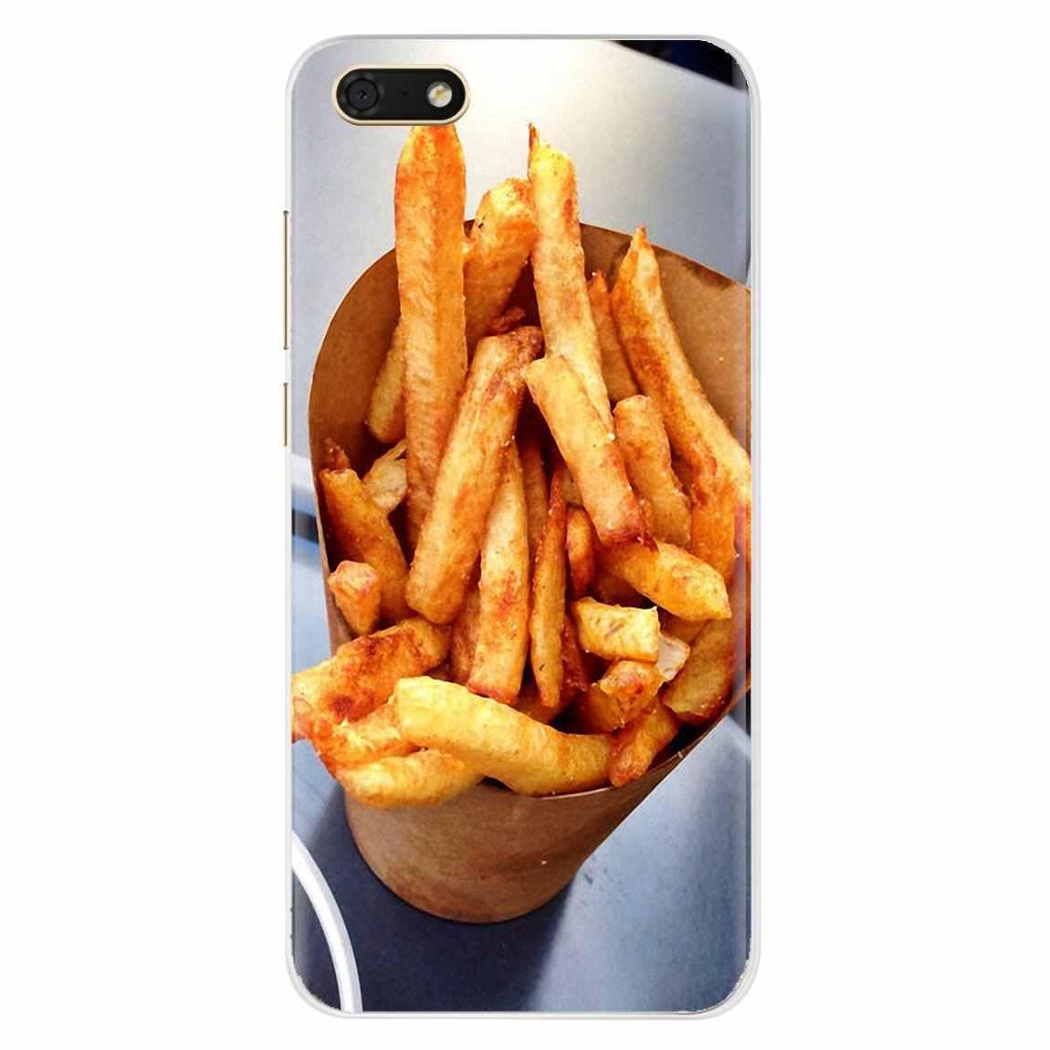 ل شياو mi mi 5 mi 5s mi 6 mi A1 A2 5X6X8 9 Lite SE Pro mi Max mi x 1 2 3 2S البطاطس المقلية عن قرب الغذاء البطاطس سيليكون شل