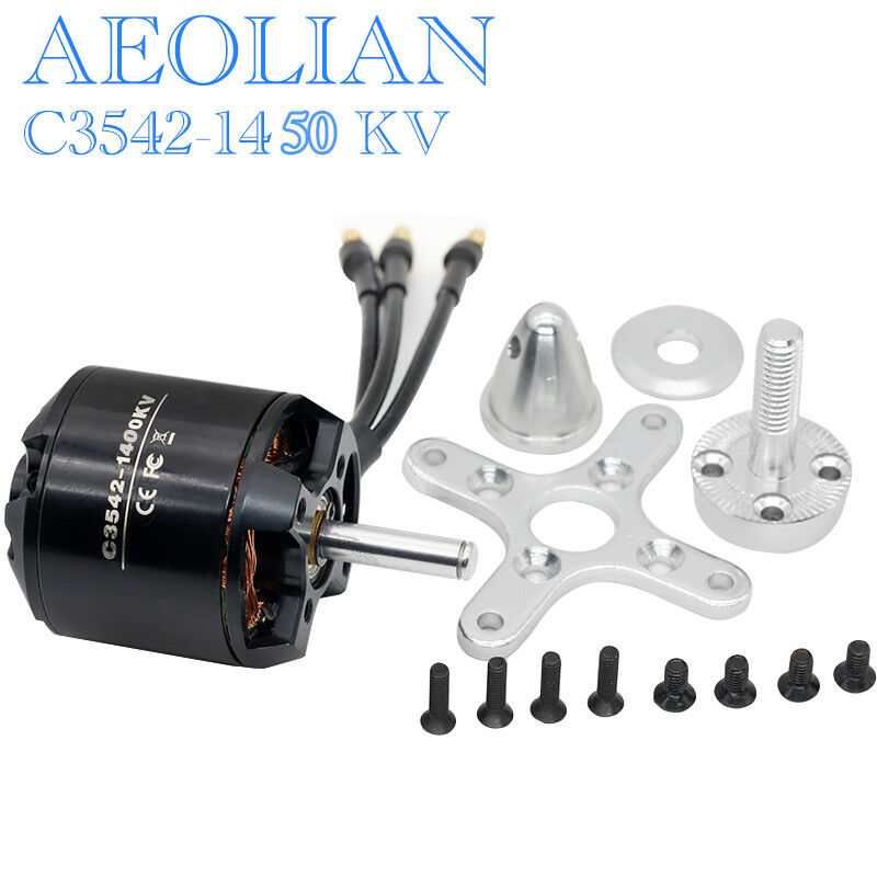 Aeolian motors C3542 <font><b>1450KV</b></font> with 5mm motor shaft for RC aircraft airplane quadcopter image