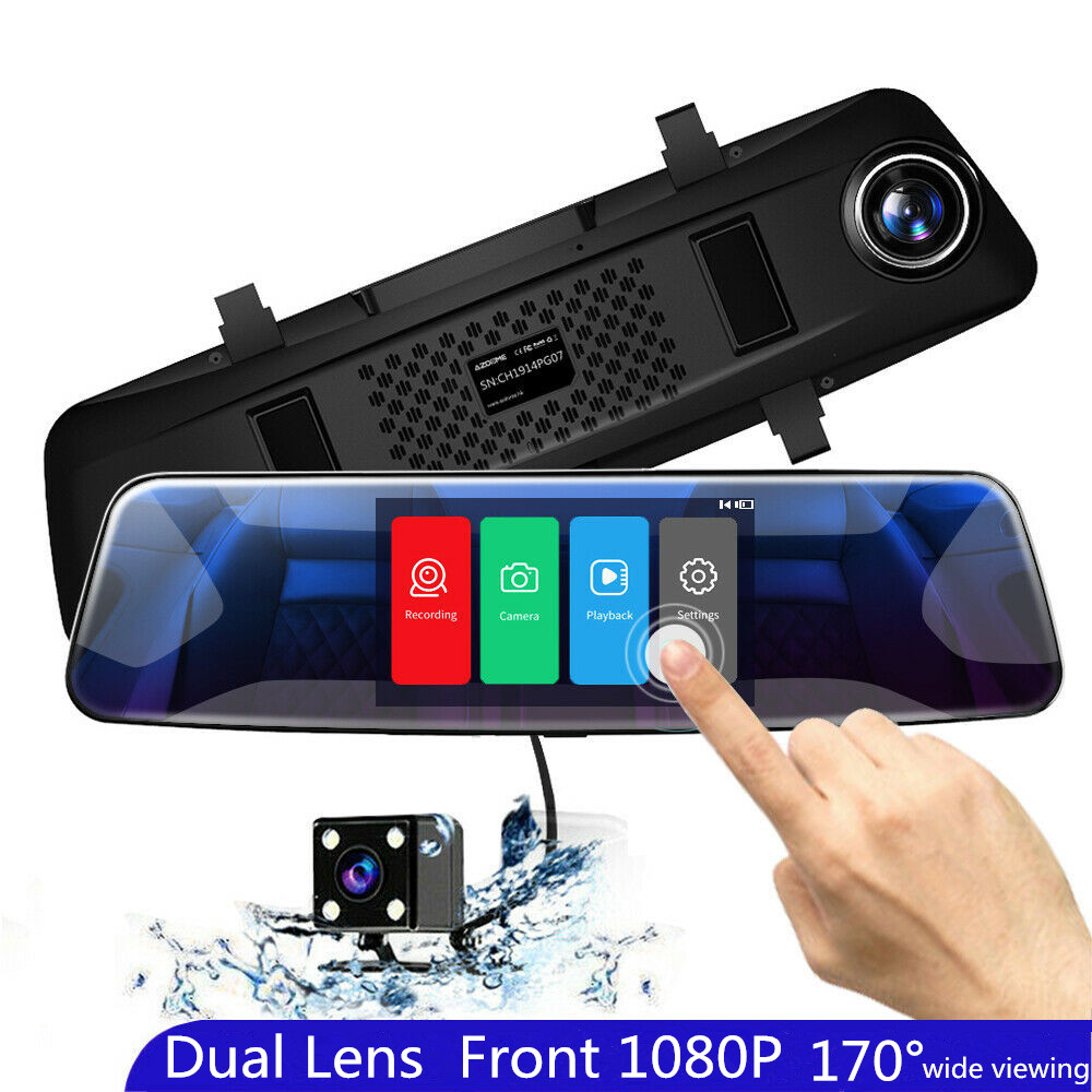 AZDOME PG07 <font><b>Car</b></font> DVR 4.3 Inch Touchscreen 1080p Dash Camera Dual Lens With Rearview Camera Video Recorder Auto Registrator <font><b>Dvrs</b></font> image
