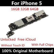 Nuovo Arrivo Originale Mainboard Per iPhone 5 Scheda Madre di Buona di lavoro Con Il Pieno di Chip IOS Installato Sbloccato Scheda Logica