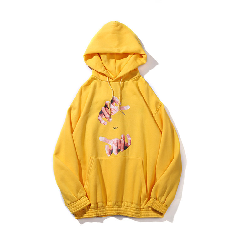 Autumn & Winter New Products Europe And America Popular Brand Off Ow Cool Finger Arrowhead Printed Men And Women Hoodie