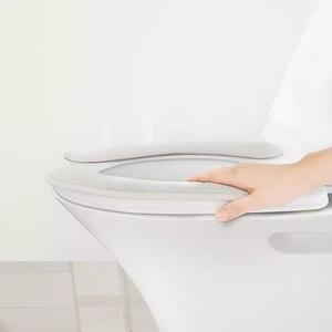 Image 2 - Youpin Qualitell 따뜻한 부드러운 빨 수있는 변기 커버 매트 홈 장식에 대 한 설정 Closestool 매트 좌석 케이스 화장실 뚜껑 커버 Accessori