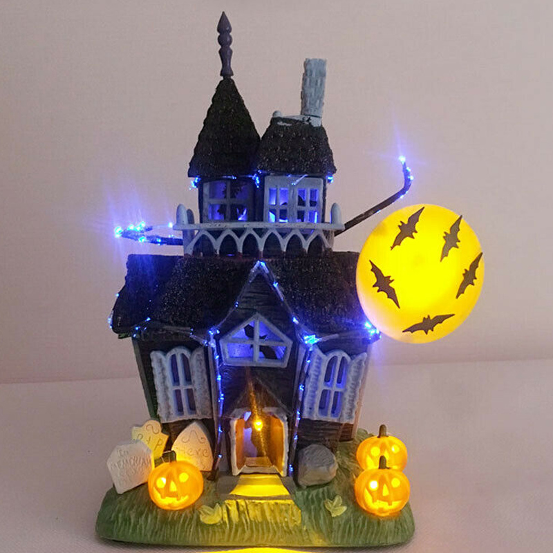 Halloween Decoration Spooky Haunted House Flashing Lights Sound Motion Sensor Toy Home Decoration Party Supplies LB88