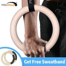 Procircle – anneaux de gymnastique en bois, 28/32mm, avec longues boucles réglables, sangles d'entraînement pour la gymnastique à domicile et le Cross Fitness