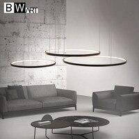 Современная светодиодная люстра BWART  алюминиевые круглые светильники для дизайна интерьера  инженерная осветительная линия  подвесная све...