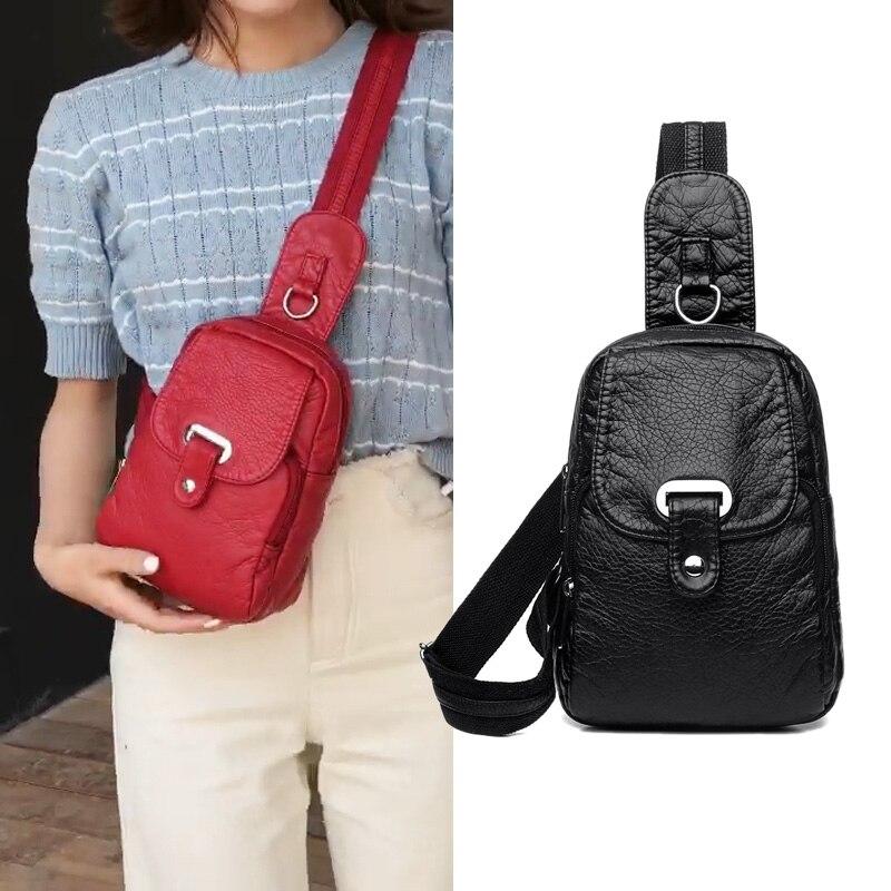 Fashion Women Chest Bags Soft Luxury Women Messenger Bags For Women 2019 New Crossbody Bag Girls Street Small Bag Designer
