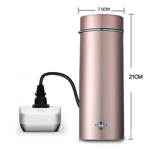Image 2 - Portable mini Electric Kettle water thermal heating boiler travel Stainless Steel tea pot coffee milk boiling cup 110V 220V