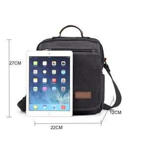 Image 5 - Mini Men Canvas Bag Wear Resistant Fashion Handbag Business Briefcase Crossbody Bags Travel Casual Retro Bags For Male XA508ZC