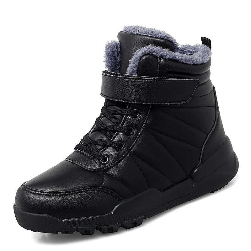 2019 Winter Outdoor Plüsch Warme Schnee Stiefel Für Frauen PU Leder Wasserdicht Schnee Schuhe Weiß Mode Stiefeletten Frau Große größe 43