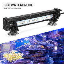 18-48CM LED Aquarium Light  Lighting Underwater Bubble Fish Tank Air Pump IP68 Waterproof D30