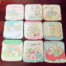 Handkerchiefs Sumikko Mini Gurashi Cartoon Cute Children's Towels Face-Wash Pure-Cotton