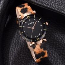 Fashion Trend Women Quartz Watches Leopard Print Minimalist Creative Ladies