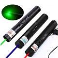 Охотничья Зеленая лазерная указка красный синий лазерный прицел 10000 м 5 мВт Мощный регулируемый фокус лазеры 303 ручка сжигание матч