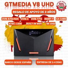 Новое поступление GTMEDIA V8 UHD DVB-S2 рецептер CA разъем карты собран в Wi-Fi, H.265 GTmedia v8 nova freesat v9 супер дополнительное по не входит в комплект